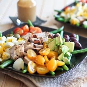 Cobb Style Green Bean Salad with Creamy Honey-Dijon Vinaigrette