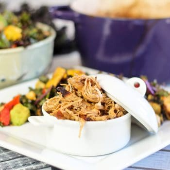 Coconut Pulled Turkey and Massaged Kale Salad