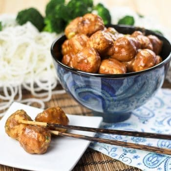 General Tso Chicken Meatballs