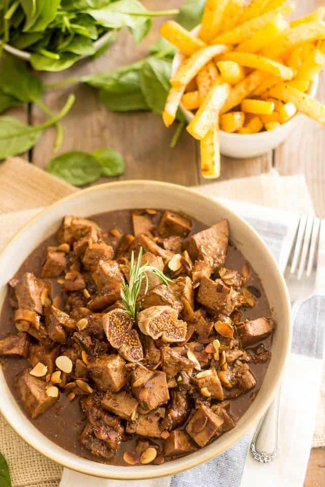 Fig and Almond Lamb Stew | thehealthyfoodie.com