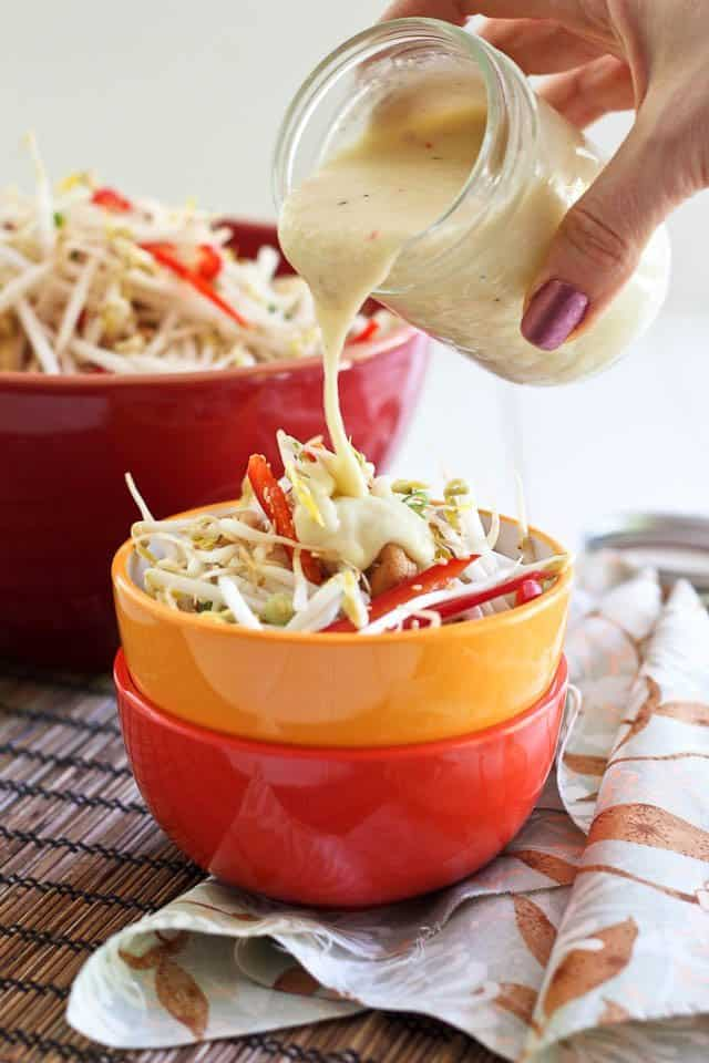 Cashew Bean Sprout Salad   by Sonia! The Healthy Foodie