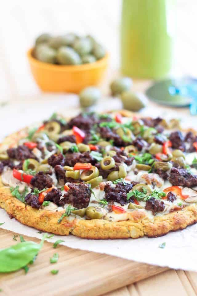 Cauliflower Crust Ground Beef  | by Sonia! The Healthy Foodie