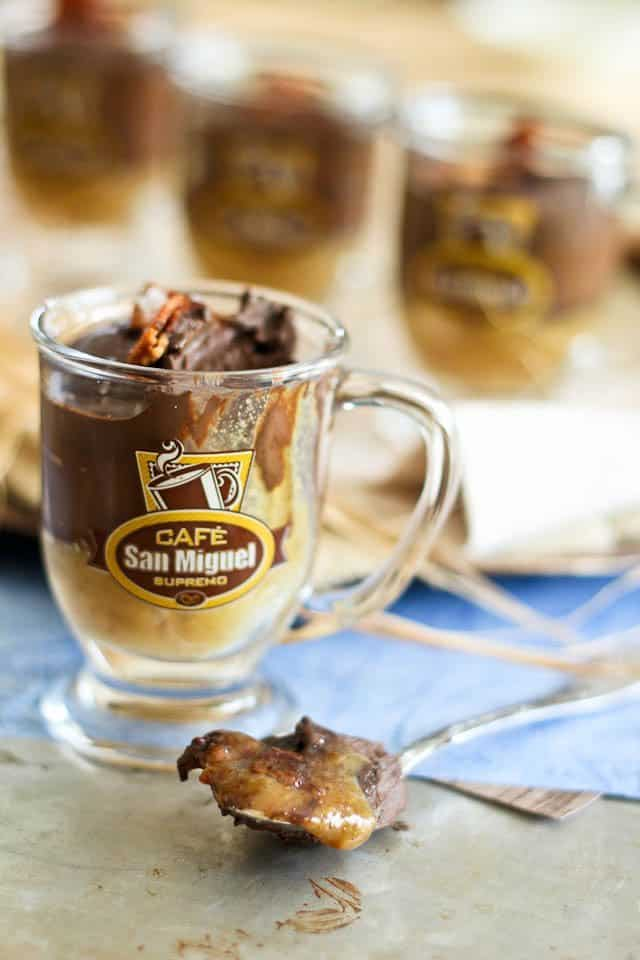 Chocolate Caramel Bacon Pots-de-Creme | by Sonia! The Healthy Foodie