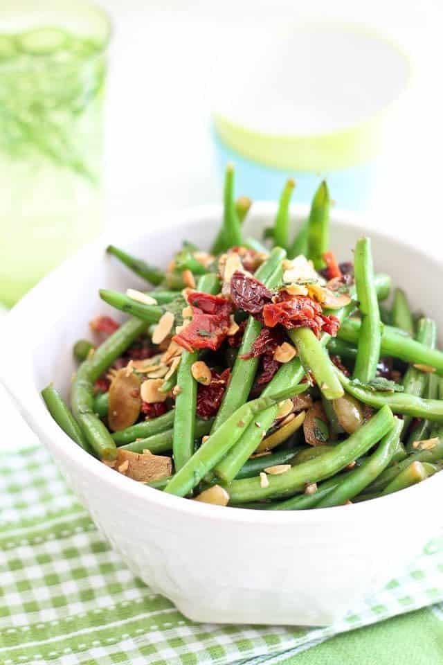 green beans olives sun dried tomato salad. Black Bedroom Furniture Sets. Home Design Ideas