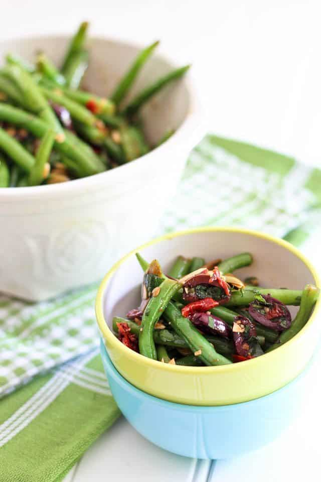 Green Bean Olive and Sundried Tomato Salad | by Sonia! The Healthy Foodie