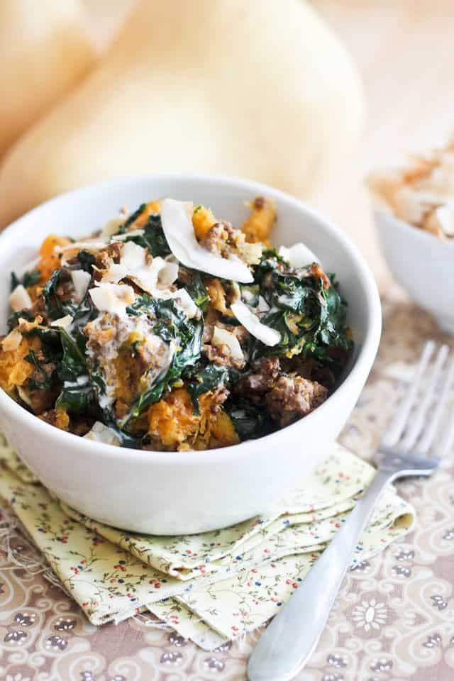 Kale Butternut Squash Breakfast Bowl | by Sonia! The Healthy Foodie