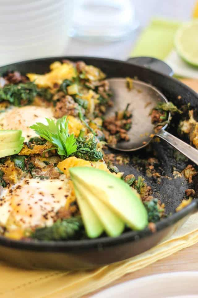 Ground Beef Butternut Squash Breakfast Skillet   by Sonia! The Healthy Foodie