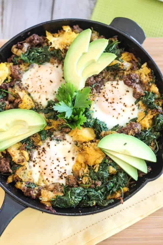 Ground Beef Butternut Squash Breakfast Skillet | by Sonia! The Healthy Foodie