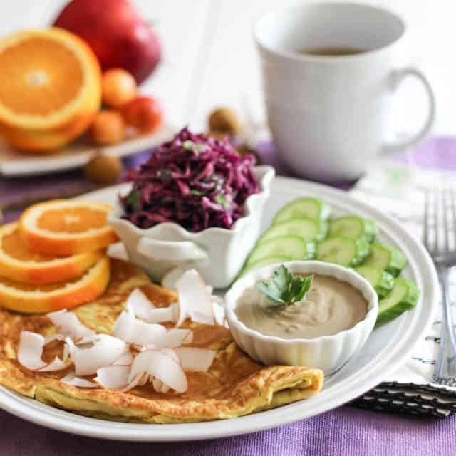 Orange Coconut Omelette