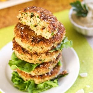 Coconut & Shrimp Patties with Avocado Mayo Dipping Sauce