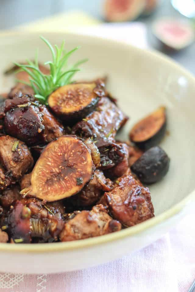 Quick Pork and Fresh Fig Sauté | by Sonia! The Healthy Foodie