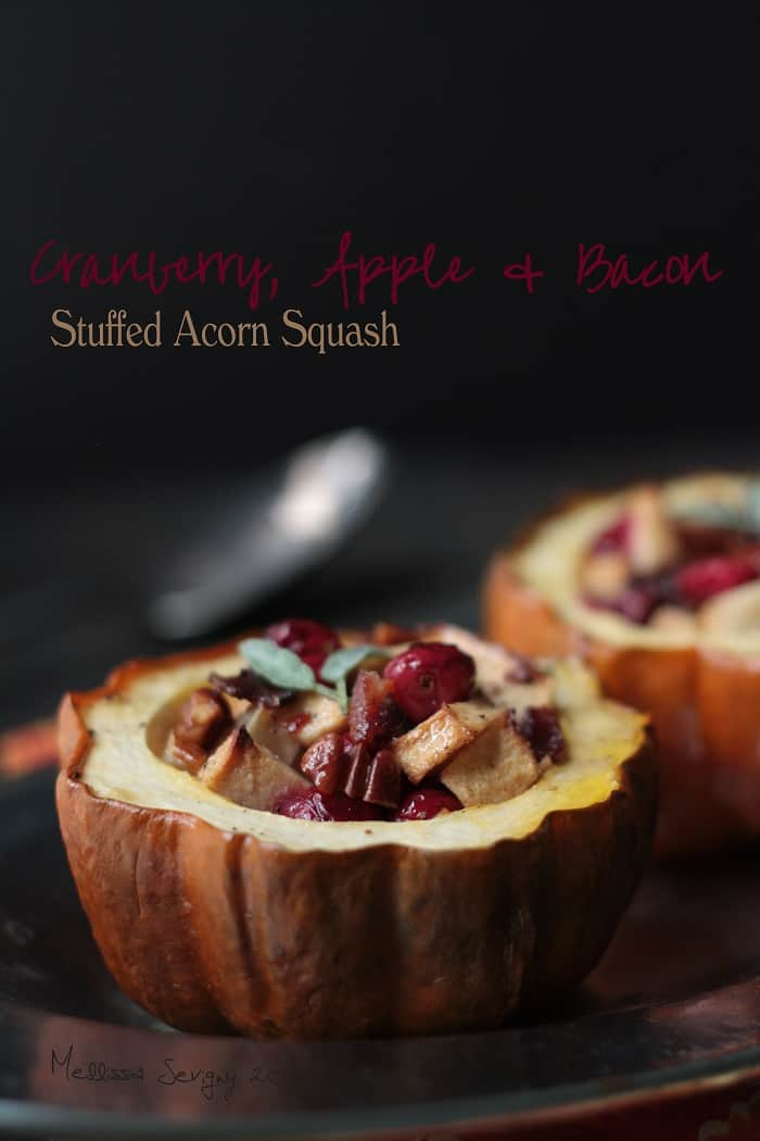 Cranberry, Apple and Bacon Stuffed Acorn Squash by Mellissa of I Breathe… I'm Hungry…