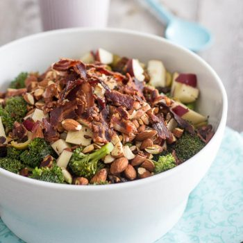 Broccoli Apple and Almond Salad