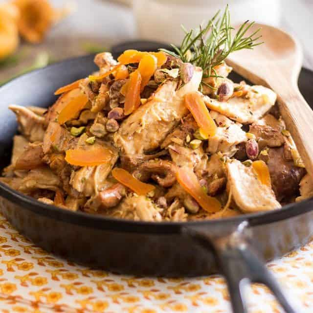 Chicken Casserole with Chanterelles and Goat Cheese