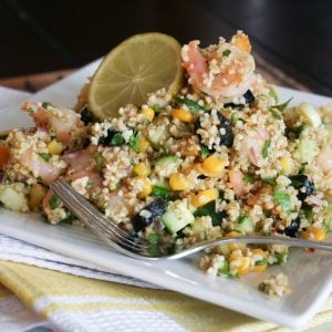 Cold Bulgur Wheat and Shrimp Salad