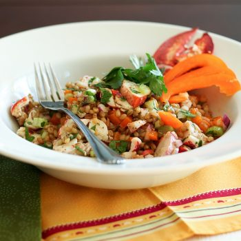 Wheat Berry and Lobster Salad