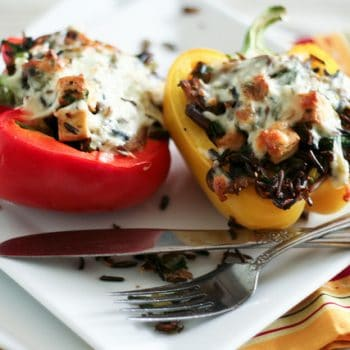 Wild Rice Vegetarian Stuffed Bell Peppers (and P90X it is!)