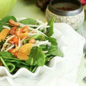 Spinach Orange and Cashew Salad