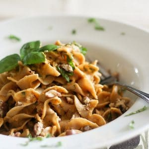 Creamy Pumkin and Chestnut Pasta