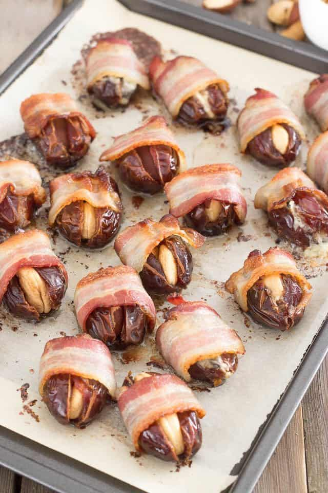 Bacon Wrapped Stuffed Dates | by Sonia! The Healthy Foodie