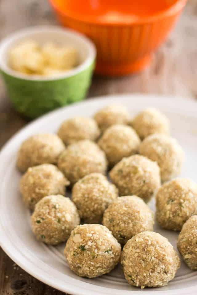 Mozzarella Stuffed Buffalo Chicken Meatballs | by Sonia! The Healthy Foodie