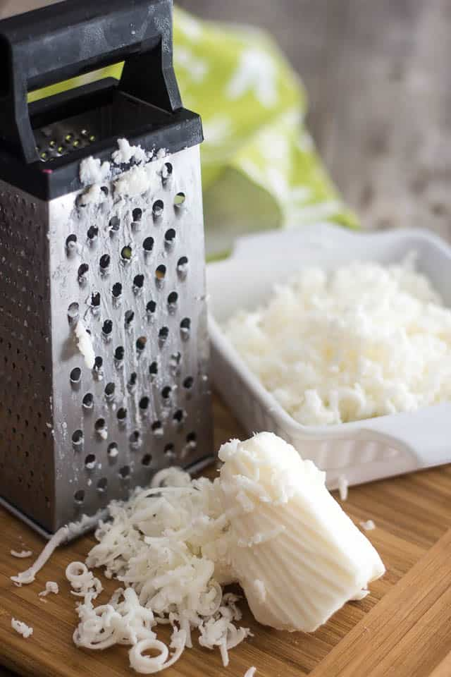 Grating your frozen lard | by Sonia! The Healthy Foodie