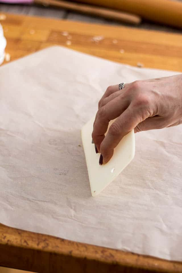Cleaning the parchment paper | by Sonia! The Healthy Foodie