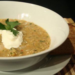 Red Lentil and Sole Soup