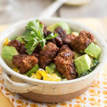 Italian Sausage, Egg and Spinach Breakfast Bowl