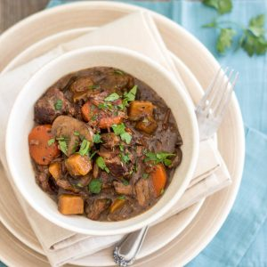 Squeaky Clean Slow Cooker Beef Bourgignon