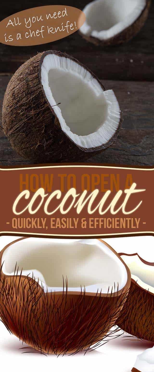 Learn How to Crack Open a Coconut Quickly Easily and Painlessly using nothing but a Chef Knife