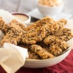 Paleo Chicken Fingers   www.thehealthyfoodie.com