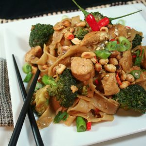 Spicy Peanut Chicken Noodles