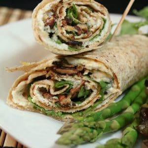 Tortilla Wrapped Blue Cheese Omelet