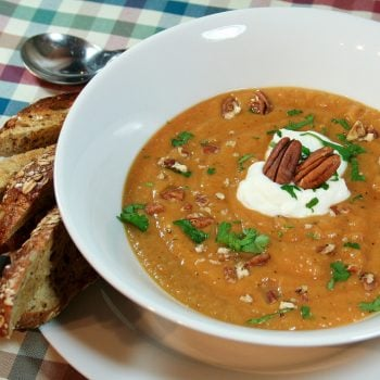 Acorn Squash and Sweet Potato Soup