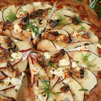 Apple, Goat Cheese and Walnut Pizza