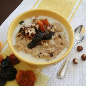 Millet and Amaranth Warm Breakfast Cereal