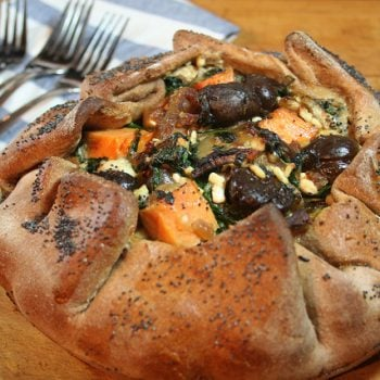 Rustic Sweet Potato Chestnuts Galette