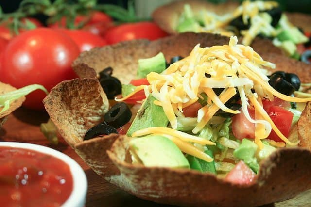 Taco Style Salad in a Tortilla Bowl • The Healthy Foodie