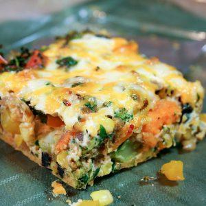 Sweet Potato Oven Baked Frittata