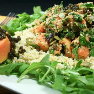 Refreshing Papaya Millet Salad