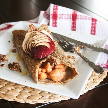 Buckwheat pancakes with Apples and Cottage Cheese
