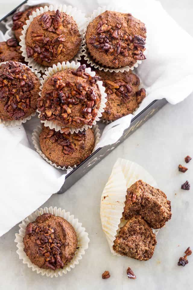Buttered Pecans Muffins | www.thehealthyfoodie.com