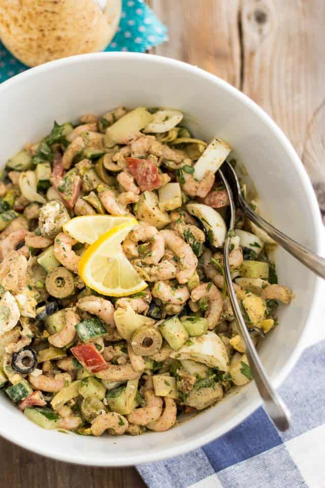Cold Nordic Shrimp Salad | www.thehealthyfoodie.com