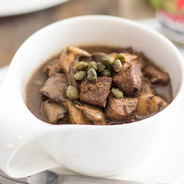 Slow Cooker Pork Stew with Oyster Mushrooms