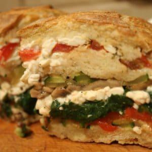 Vegetable Stuffed Bread