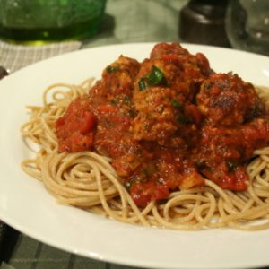Spaghetti Chicken Meatballs
