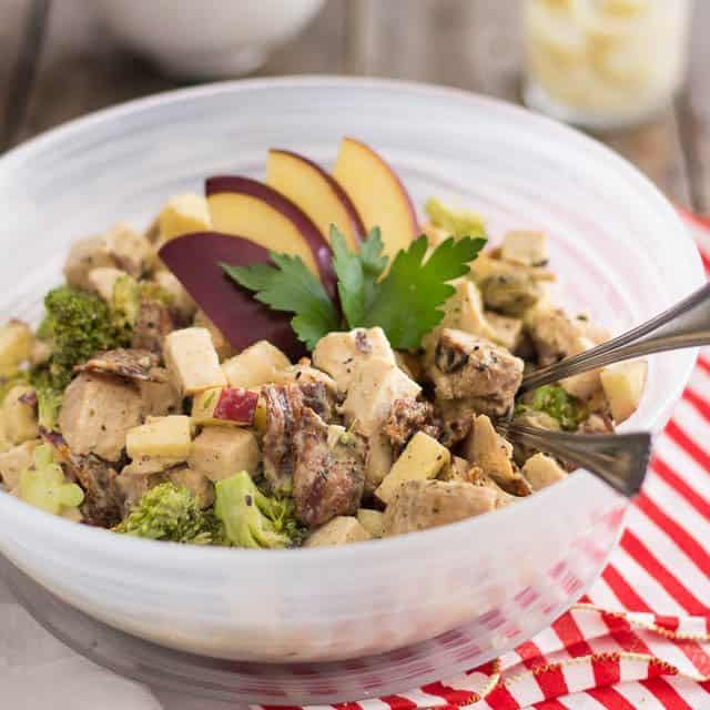 Cooked Chicken, Broccoli and Apple Salad