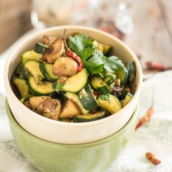 Sauteed Zucchini and Mushrooms | thehealthyfoodie.com