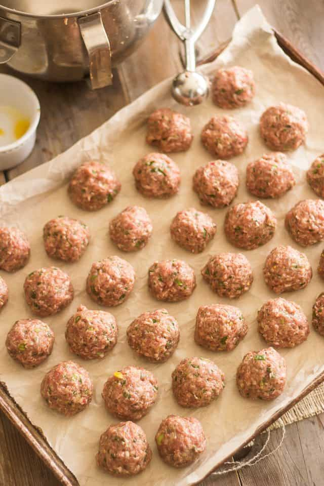 how to keep meatballs round when baking